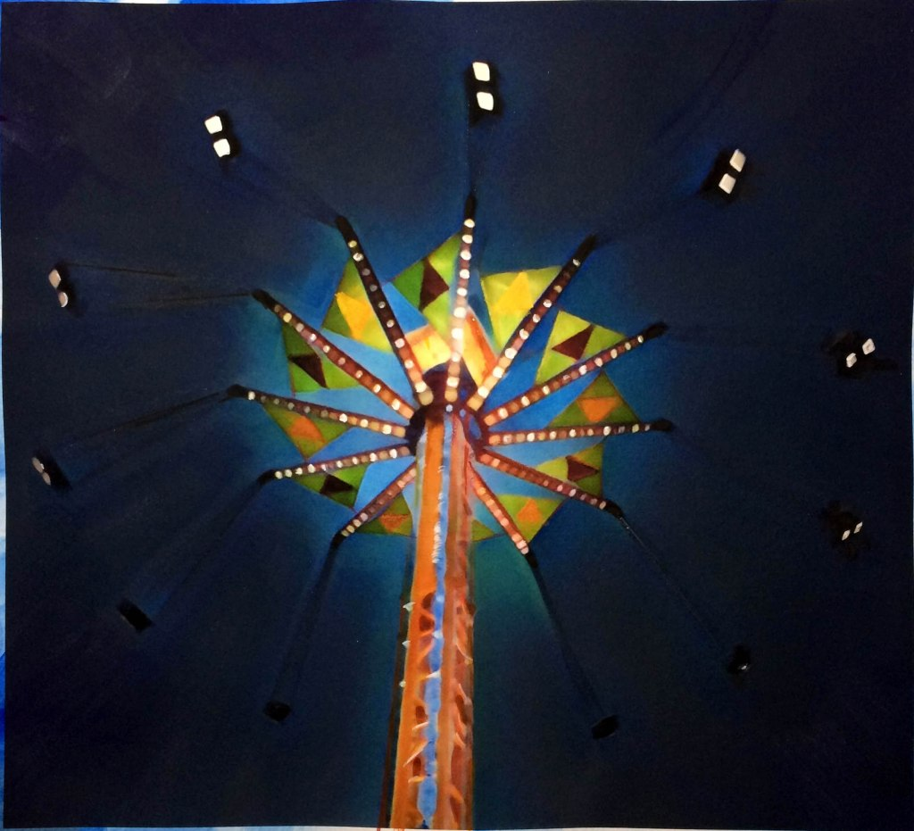 carnival ride at night Danbury CT