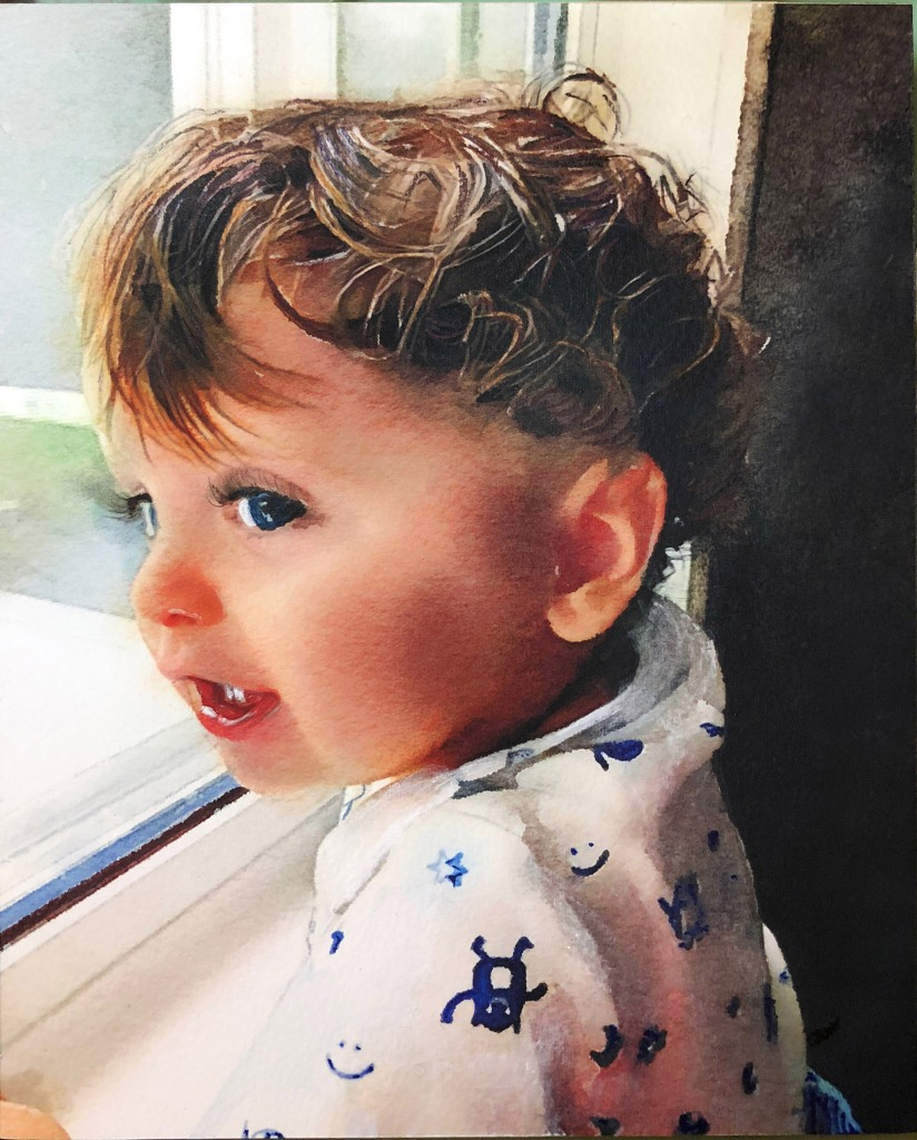 toddler by the window