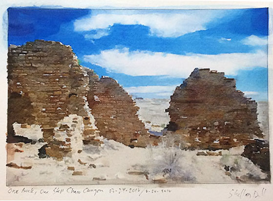 Chaco Canyon stonewall
