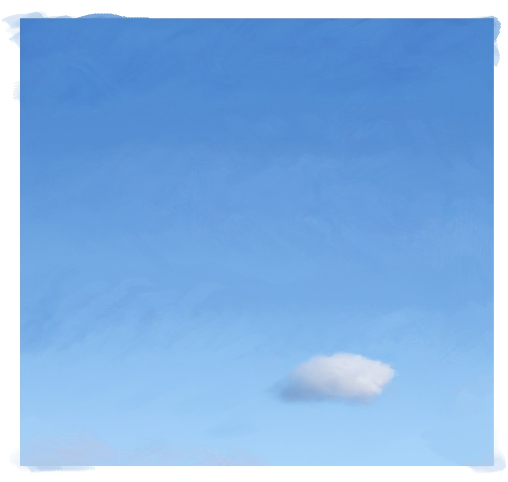 fluffy cloud in blue sky