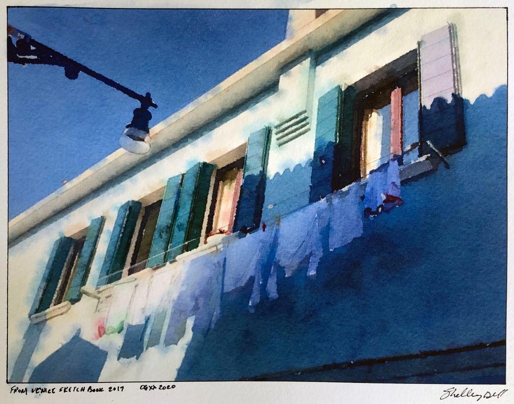 clothesline Burano Italy