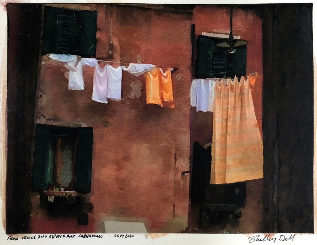 clothesline in Cannareggio Venice